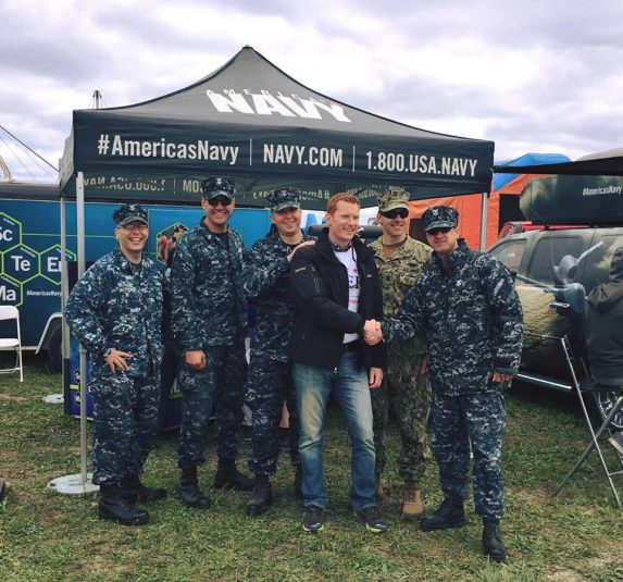 DG at Air Show with Navy